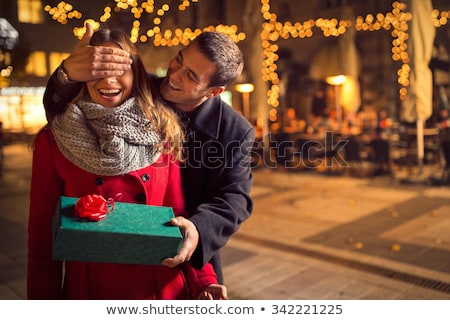 young couple with with gift Stock photo © IS2
