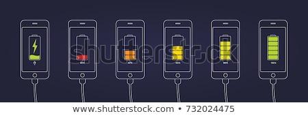 батареи символ черный темно аккумулятор Сток-фото © romvo