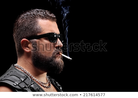 Cool guy with cigar Stock photo © MikLav