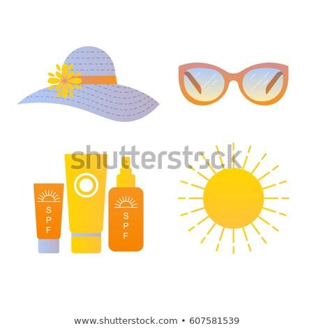 glossy sunblock cream vector illustration Stock photo © nezezon