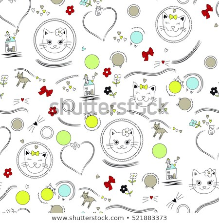 abstract colorful heart in cercal stock photo © pathakdesigner