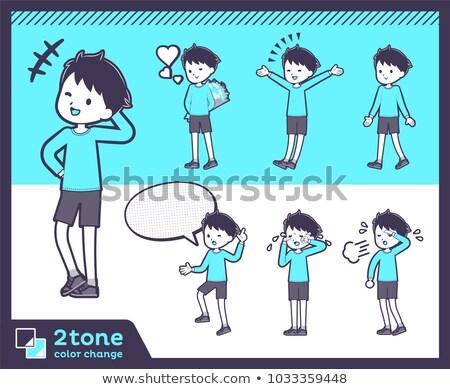 2tone type blue clothing boy_set 03 stock photo © toyotoyo
