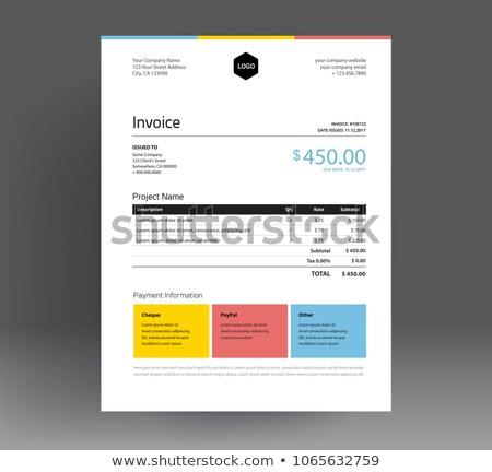 creative yellow modern invoice template Stock photo © SArts