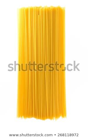 Spagetti makarna ahşap kepçe sarı yuva Stok fotoğraf © Digifoodstock