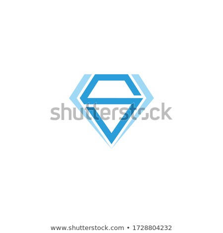 magenta and blue diamond shaped letter s vector illustration stock photo © cidepix