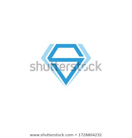 пурпурный синий Diamond письме вектора Сток-фото © cidepix
