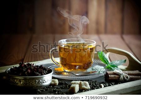 Vidro chá medicinal de topo ver copo Foto stock © dash
