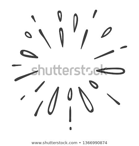 Cartoon Firework Sign Stock photo © cthoman