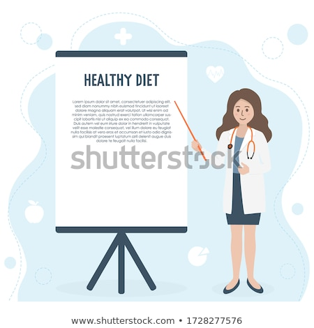 female doctor with paper pointer stock photo © traimak