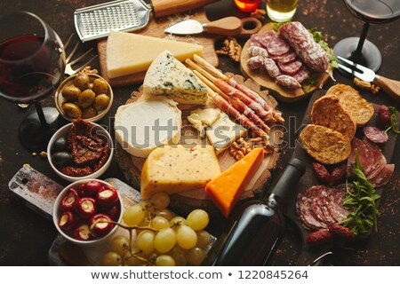 Stock photo: Huge assortment of various tasety spanish, french or italian apertizers