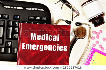 Tablet with the text Emergency medicine the display Stock photo © Zerbor
