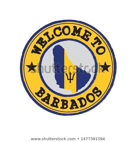 Barbados kaart logo vector ontwerp teken Stockfoto © blaskorizov