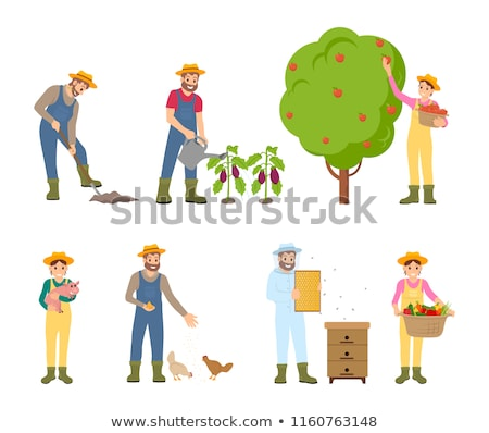 Beekeeper and Farming Man Vector Illustration Stock photo © robuart