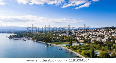 vela · lago · Suiza · alpes · agua · naturaleza - foto stock © boggy