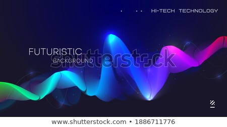 Music Background Vector. Visual Explosion. Computer Particle. 3D Illustration Stock photo © pikepicture