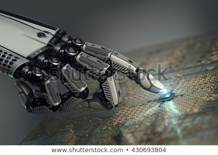 Robot tocar digital circuito primer plano robótica Foto stock © AndreyPopov