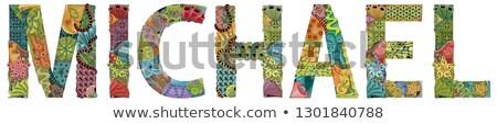 male name michael vector decorative zentangle object stock photo © natalia_1947