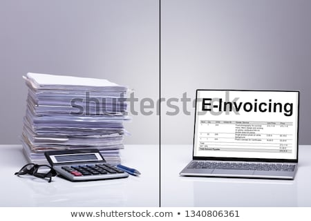 Old And New Method Of Calculating E-invoice Stock photo © AndreyPopov