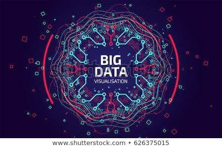Grande datos ingeniería ingenieros centro de datos operación Foto stock © RAStudio