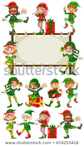 Noël elf modèle illustration heureux design Photo stock © colematt