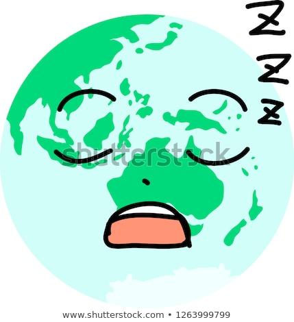 Eco toprak karakter ikon Stok fotoğraf © Blue_daemon