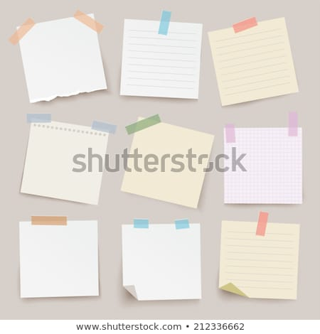 Note Papier Sticker Postit Stock photo © lemony