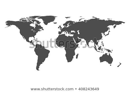 World map flat icon Stock photo © biv