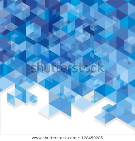 ジグソーパズル 白 クローズアップ 青 背景 ストックフォト © AndreyPopov