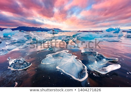 Travel wanderlust in arctic landscape nature with icebergs - Greenland tourist Stock photo © Maridav