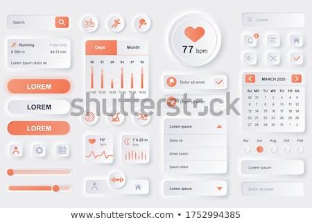 Calendário aplicação interface composição digital tecnologia digital Foto stock © wavebreak_media