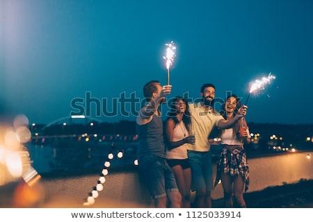 Gelukkig vrienden partij recreatie viering Stockfoto © dolgachov