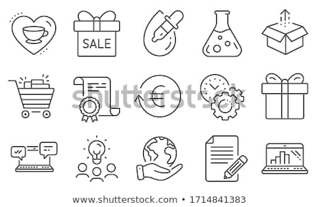 We Love Shopping Idea, Set of People with Articles Stock photo © robuart