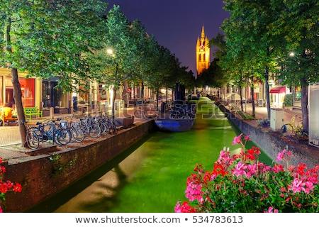 Canal Países Bajos vista casas agua ciudad Foto stock © borisb17