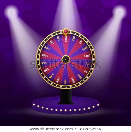 Ruota numeri vincente soldi gioco d'azzardo isolato Foto d'archivio © robuart