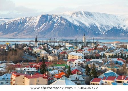 reykjavik · luchtfoto · stad · hemel · gebouw · landschap - stockfoto © vichie81
