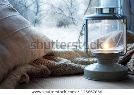 Pencere eşiği ışık konfor dizayn mobilya Stok fotoğraf © dashapetrenko