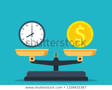 Time is money business concept with balance scales Stock photo © vectorikart