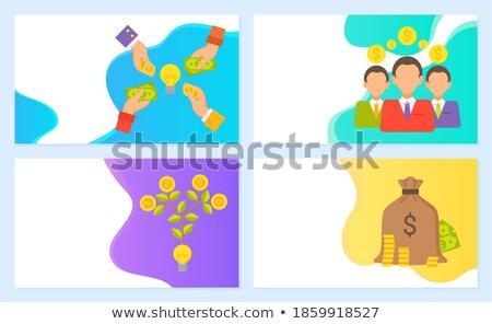 Zakenlieden financieren winst vector handen Stockfoto © robuart