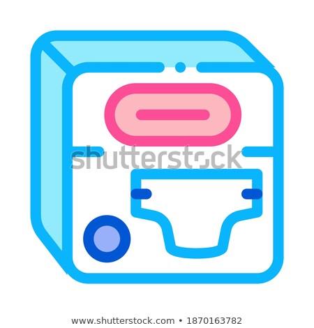 Fralda dispositivo ícone vetor ilustração Foto stock © pikepicture