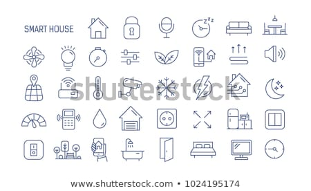 automated internet settings icon vector outline illustration Stock photo © pikepicture