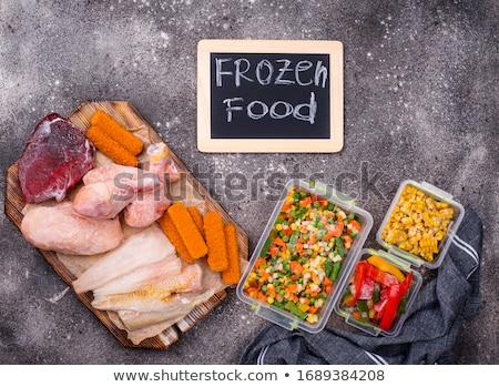 Conjunto congelada legumes comida peixe Foto stock © furmanphoto