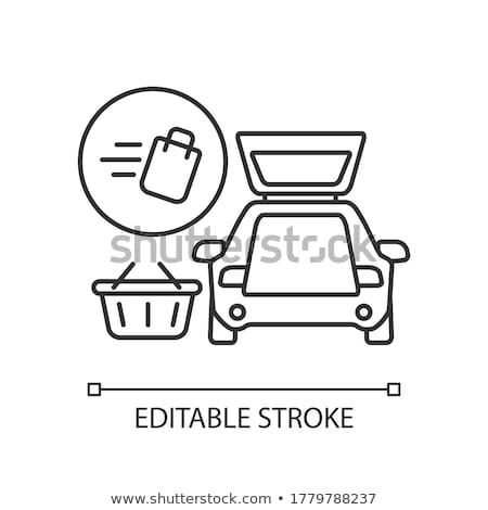 item to pick up food icon vector outline illustration Stock photo © pikepicture