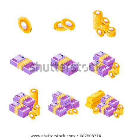Grande conjunto diferente euro notas isométrica Foto stock © evgeny89