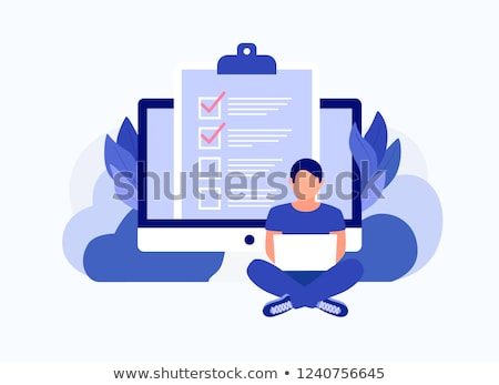 を 調査 フォーム ノートパソコン 画面 ストックフォト © AndreyPopov