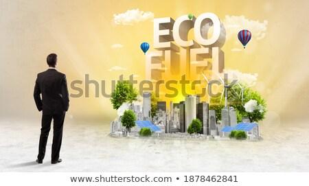 вид сзади бизнесмен Постоянный реализация Сток-фото © ra2studio
