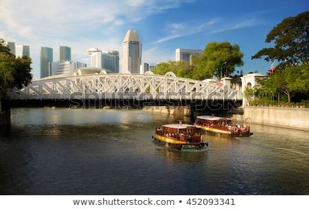 橋 詳細 シンガポール 川 アーキテクチャ 鉄 ストックフォト © ribeiroantonio