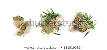 gedroogd · rosmarijn · kruid · achtergrond · keuken · witte - stockfoto © HJpix