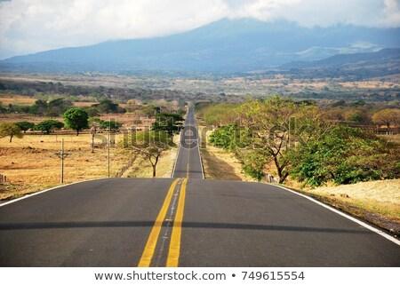 Costa Rica sinal da estrada verde nuvem rua assinar Foto stock © kbuntu