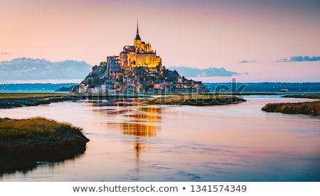 Abbaye vue océan église plage mur Photo stock © CaptureLight