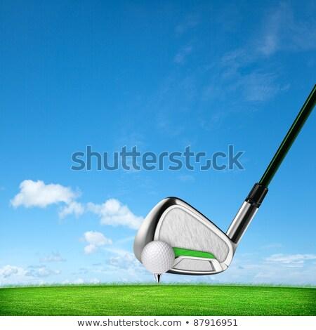 golf · égbolt · fű · mező · kék · klub - stock fotó © moses